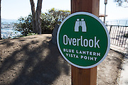 Blue Lantern Vista Point Overlook Sign in Dana Point
