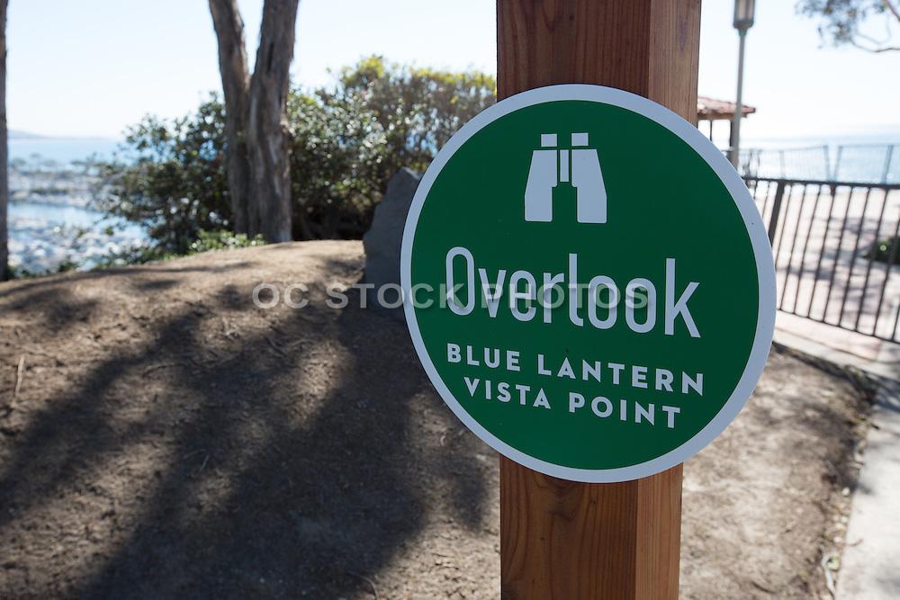 Blue Lantern Vista Point Overlook Sign in Dana Point