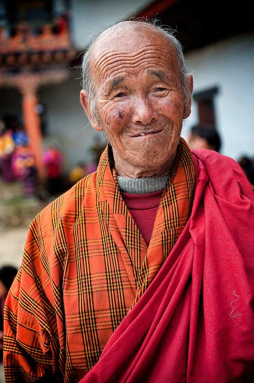 Asia, Tibet, Bhutan, market, old, man, portrait, Phobjikha, Gangte, valley, monastery