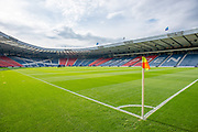 General view inside Hampden Park, Glasgow, Scotland, United Kingdom before the Scottish FA Youth Cup Final match between Celtic and Rangers on 25 April 2019.