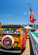 Classic Woodies Car Exhibit On The San Clemente Pier