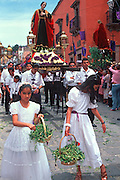 MEXICO, SAN MIGUEL, EASTER Good Friday Encuentro Procession