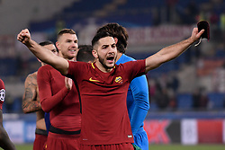 December 5, 2017 - Rome, Italy - Konstantinos Manolas of Roma  celebrates the victory after the UEFA Champions League match between Roma and Qarabag at Stadio Olimpico, Rome, Italy on 5 December 2017  (Credit Image: © Giuseppe Maffia/NurPhoto via ZUMA Press)