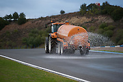 Circuito de Jerez, Spain : Formula One Pre-season Testing 2014. Water truck watering the track for Pirelli wet weather testing