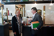 JUDITH NEILSON; TIM ECHELLS, Brunch to celebrate the launch of Art HK 11. Miss Yip Chinese Cafe. Meridian ave,  Miami Beach. 3 December 2010. -DO NOT ARCHIVE-© Copyright Photograph by Dafydd Jones. 248 Clapham Rd. London SW9 0PZ. Tel 0207 820 0771. www.dafjones.com.