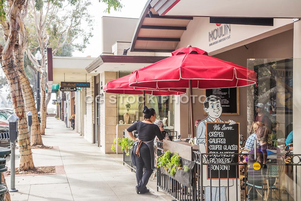 Moulin Cafe on Forest Ave Laguna Beach California