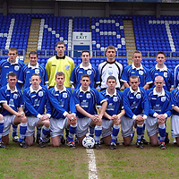 St Johnstone v Aberdeen  SFA Youth Cup Semi-Final 13.04.01<br />St Johnstone Back row from left, Henry Hall (Youth Team Coach), Brendan Crozier, Kevin Welsh, David McClune, Peter Lynch, Scott Findlay, Darren Kearney, Kevin Cuthbert, Keigan Parker, David Noble, Steven McAllister, Jocky Peebles (Physio), Emmanuel Ezenwa and Alistair Stevenson (Development Coach)<br />Front Row from left, Frazer Briggs, Martin Maher, Chris Conway, Nathan McConnell, Ross Forsyth, Mark Ferry, Martyn Fotheringham, David Dodds, Barry Thompson.<br /><br />Pic by Graeme Hart<br />Copyright Perthshire Picture Agency<br />Tel: 01738 623350 / 07990 594431