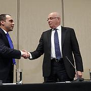 NLD/Amsterdam/20150521 - Persconferentie Michael van Praag ivm aftreden UEFA kandidatuur met prins ALi AL Hussein