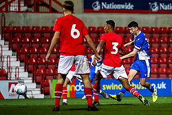 Ollie Hulbert of Bristol Rovers scores a goal to make it 1-1 - Mandatory by-line: Robbie Stephenson/JMP - 29/10/2019 - FOOTBALL - County Ground - Swindon, England - Swindon Town v Bristol Rovers - FA Youth Cup Round One