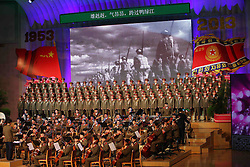60243573  <br /> Members of military band of the Democratic People s Republic of Korea (DPRK) s Korean People s Army (KPA) perform the song of the Chinese People s Liberation Army (PLA) during the celebrating ceremony to mark the 60th anniversary of the Korean War Armistice Agreement, <br /> Pyongyang, North Korea, <br /> Monday, July 29, 2013. <br /> Picture by imago / i-Images<br /> UK ONLY