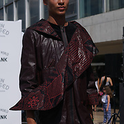 London,England,UK: 23th July 2016: Designer David Bennie showcases is one anc only masterpieces from Hackney-based charity Fashion Awareness Direct (FAD) showcases at the Fashion Undressed with MasterCard at the Royal Festival Hall, Southbank, London,UK. Photo by See Li