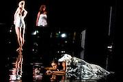 16/10/2012. London, UK. Sadler's Wells Theatre, London. Rambert Dance Company: Autumn Season.<br /> Picture shows: The World Premier of Labyrinth of Love, choreographed by Marguerite Donlan. Dancer: Estela Merlos & company.