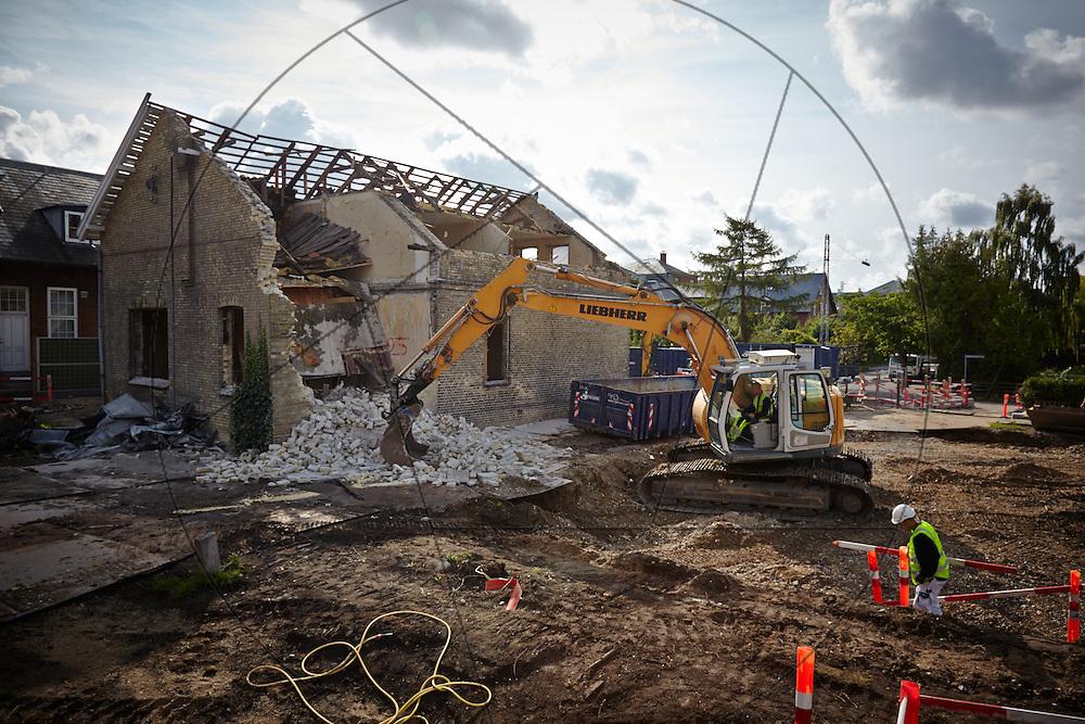 Diakonissestiftelsen Peter Bangsvej Frederiksberg, nedrivning af huse før nybygning af hospice arbejdssikkerhed, arbejdsmiljø
