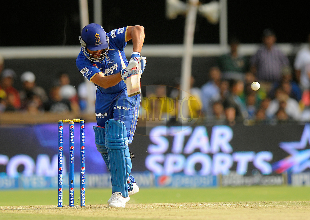 Karun Nair of the Rajatshan Royals bats during match 25 of the Pepsi Indian Premier League Season 2014 between the Rajasthan Royals and the Kolkata Knight Riders held at the Sardar Patel Stadium, Ahmedabad, India on the 5th May  2014<br /> <br /> Photo by Pal Pillai / IPL / SPORTZPICS      <br /> <br /> <br /> <br /> Image use subject to terms and conditions which can be found here:  http://sportzpics.photoshelter.com/gallery/Pepsi-IPL-Image-terms-and-conditions/G00004VW1IVJ.gB0/C0000TScjhBM6ikg