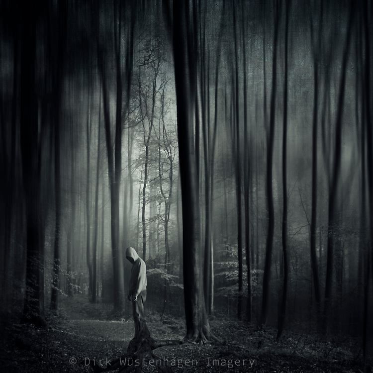 man stuck in a nightmare....<br /> Prints &amp; more:<br /> http://society6.com/DirkWuestenhagenImagery/gridLock-Yqh_Print