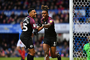 Ivan Toney celebrates his goal for Peterborough during the EFL Sky Bet League 1 match between Portsmouth and Peterborough United at Fratton Park, Portsmouth, England on 7 December 2019.
