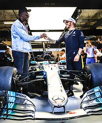 October 22, 2017 - Austin, United States of America - Motorsports: FIA Formula One World Championship 2017, Grand Prix of United States, ..Usain Bolt and #44 Lewis Hamilton (GBR, Mercedes AMG Petronas F1 Team) (Credit Image: © Hoch Zwei via ZUMA Wire)