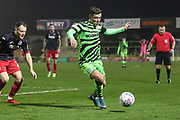 Forest Green Rovers Jack Aitchison(29), on loan from Celtic on the ball during the EFL Sky Bet League 2 match between Forest Green Rovers and Exeter City at the New Lawn, Forest Green, United Kingdom on 1 January 2020.