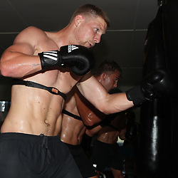 Robert du Preez during the cell c sharks backs boxing pre season training session at  Growthpoint Kings Park ,18,01,2018 Photo by Steve Haag)