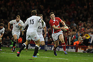 George North of Wales ® makes a break. RBS Six nations championship 2013, Wales v England at the Millennium stadium in Cardiff , South Wales on Saturday 16th March 2013. pic by Andrew Orchard, Andrew Orchard sports photography,