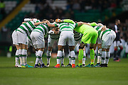 Captain Stuart Armstrong speaks to the Celtic team in the 'huddle' - Celtic v Dundee in the Ladbrokes Scottish Premiership at Celtic Park, Glasgow. Photo: David Young<br /> <br />  - © David Young - www.davidyoungphoto.co.uk - email: davidyoungphoto@gmail.com
