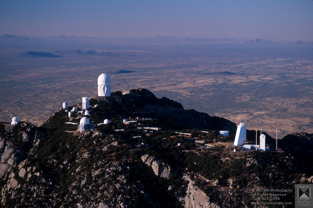 Aerial View of National Optical Astronomy Observatories (NOAO), Kitt Peak, Arizona. ©1997 Edward McCain. All rights reserved. McCain Photography, McCain Creative..