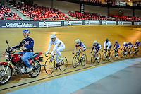 Francois Pervis- 27.01.2015 -Entrainement Equipe de France de cyclisme sur piste - Saint Quentin en Yvelines <br /> Photo : Anthony Dibon / Icon Sport