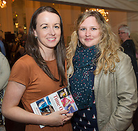 "Eileen Keleghan, Kelleghan PR  with Cathy Casserly Castlegar at the launch of Ronan Scully's New booke ""Time Out"" An Innovative collaboration of words, reflections and stories of goodness, tenderness and positivity for all our lives combine to great effect in this new publication published by Ballpoint Press. Picture:Andrew Downes"