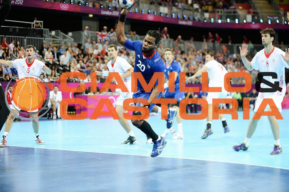 DESCRIZIONE : Handball Jeux Olympiques Londres Demi finale<br /> GIOCATORE : Sorhaindo Cedric   FRA<br /> SQUADRA : France Homme<br /> EVENTO : Jeux Olympiques<br /> GARA : France Croatie<br /> DATA : 10 08 2012<br /> CATEGORIA : Basketball Jeux Olympiques<br /> SPORT : Handball<br /> AUTORE : JF Molliere <br /> Galleria : France JEUX OLYMPIQUES 2012 Action<br /> Fotonotizia : Jeux Olympiques Londres demi Finale <br /> Predefinita :