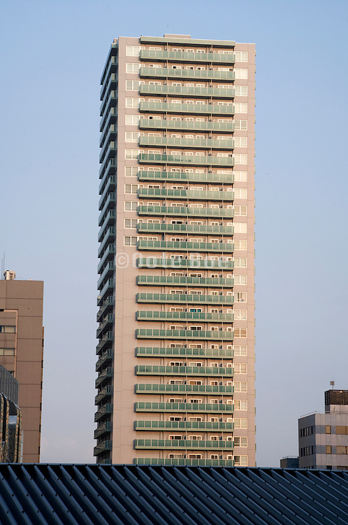 a residential high rise tower in Shinagawa district of Tokyo Japan
