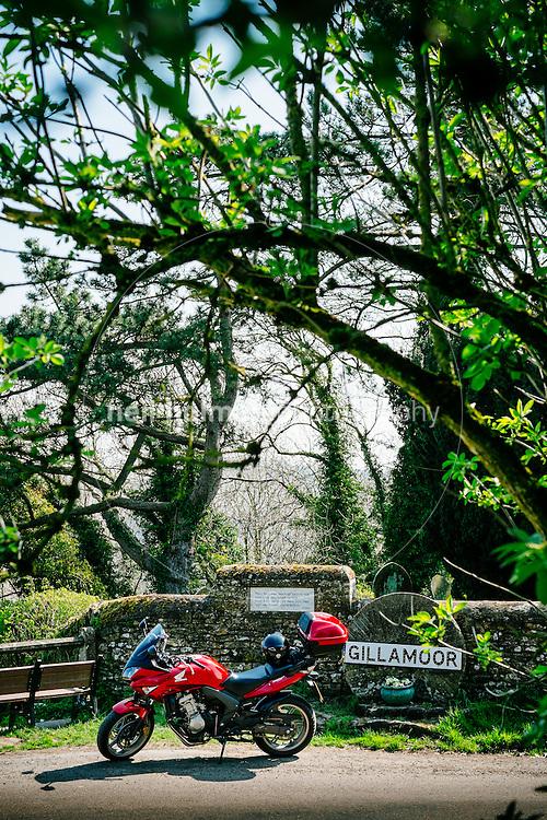 Gillamoor, North Yorkshire Moors National Park, North Yorkshire, United Kingdom, 24 April, 2015. Pictured: Honda CBF 600SA