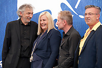 Cinematographer Wolfgang Thaler, producer Veronika Franz, director Ulrich Seidl and Eric Muller at the Safari film photocall at the 73rd Venice Film Festival, on Saturday September 3rd 2016, Venice Lido, Italy. Photography: Doreen Kennedy