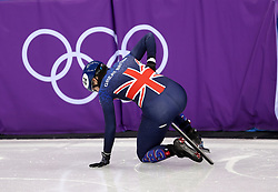 Great Britain's Charlotte Gilmartin in the Women's 500m Short Track heat eight during day one of the PyeongChang 2018 Winter Olympic Games in South Korea.