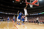 November 8, 2013: Benny Parker (3) of the Nebraska Cornhuskers with a layup against Bernard Thompson (2) of the Florida Gulf Coast Eagles at the Pinnacle Bank Areana, Lincoln, NE. Nebraska defeated Florida Gulf Coast 79 to 55.