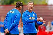 ALKMAAR - 25-06-2017, eerste training AZ. AZ trainer John van den Brom, Assistent trainer Leeroy Echteld