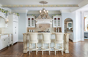 French Country kitchen in a Texas lake house, by architectural photographer Jason Jones