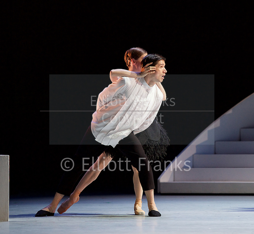 Bolshoi Ballet <br /> The Taming of the Shrew <br /> choreography by Jean-Christophe Maillot <br /> at The Royal Opera House, Covent Garden, London, Great Britain <br /> rehearsal of act 1<br /> 3rd August 2016 <br /> <br /> <br /> Photograph by Elliott Franks <br /> Image licensed to Elliott Franks Photography Services