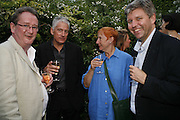 Adam Singleton, Geoff thompson, Janet Slee and Nick Newman. The Spectator At Home. Doughty St. 6 July 2006. ONE TIME USE ONLY - DO NOT ARCHIVE  © Copyright Photograph by Dafydd Jones 66 Stockwell Park Rd. London SW9 0DA Tel 020 7733 0108 www.dafjones.com