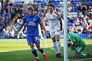 Peterborough United forward Jason Cummings (35) rues this miss during the EFL Sky Bet League 1 match between Peterborough United and Luton Town at London Road, Peterborough, England on 18 August 2018.