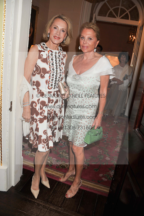 Left to right, LUCE CHURCHILL and EVA O'NEILL at Ambassador Earle Mack's 60's reunion party held at The Ritz Hotel, London on 18th June 2012.