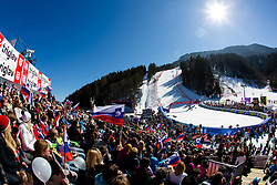 View on the course at medal ceremony during the 2nd Run of Men's Slalom - Pokal Vitranc 2014 of FIS Alpine Ski World Cup 2013/2014, on March 9, 2014 in Vitranc, Kranjska Gora, Slovenia. Photo by Matic Klansek Velej / Sportida