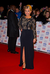 Billie Faiers arrives at the National Television Awards at the 02 Arena, London Wednesday January 23, 2013. Photo by Chris Joseph / i-Images
