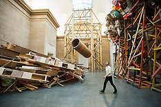 'dock' by Phyllida Barlow unveiled at Tate Britain