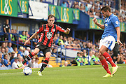 Jamie Devitt on the wing during the Sky Bet League 2 match between Portsmouth and Morecambe at Fratton Park, Portsmouth, England on 22 August 2015. Photo by David Charbit.