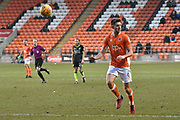 Blackpool Defender, Will Aimson (6) during the EFL Sky Bet League 1 match between Blackpool and Bristol Rovers at Bloomfield Road, Blackpool, England on 13 January 2018. Photo by Mark Pollitt.