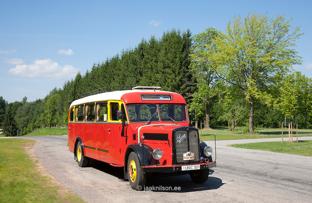 Old Bus, Estonian Road Museum, Saverna, Põlva County, Estonia