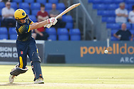 Glamorgan's Aneurin Donald in action today <br /> <br /> Photographer Simon King/Replay Images<br /> <br /> Vitality Blast T20 - Round 8 - Glamorgan v Gloucestershire - Friday 3rd August 2018 - Sophia Gardens - Cardiff<br /> <br /> World Copyright &copy; Replay Images . All rights reserved. info@replayimages.co.uk - http://replayimages.co.uk