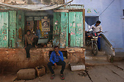 Street stall in the old city of Varanasi