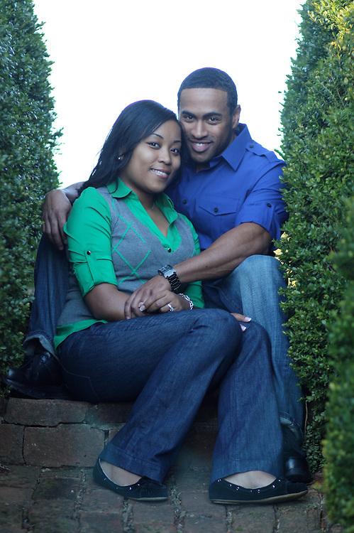 Ashley & Brandon's Engagement Portraits at Ash Lawn