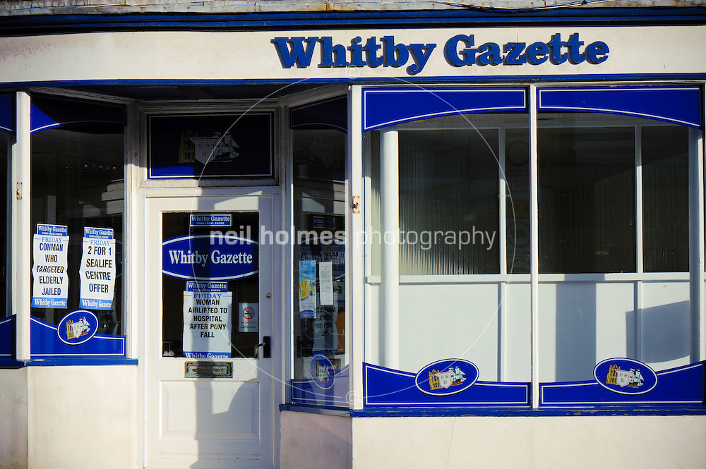 Offices of the Whitby Gazette newspaper, Bridge Street.